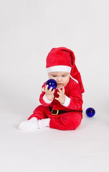 Free Little Boy In Santa Clothes Royalty Free Stock Images - 17539119