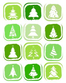 Free Pine Tree Icons Royalty Free Stock Photos - 17539368