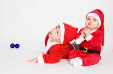 Free Little Boys In Santa Clothes Stock Photos - 17539373