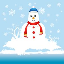 Free Snowman Character Royalty Free Stock Photos - 17539458