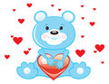 Free Blue Bear With Heart Stock Photo - 17543170