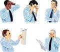 Free Man Speaks On Telephone. Stock Image - 17547241