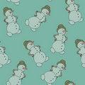 Free Snowman Seamless Royalty Free Stock Image - 17549456