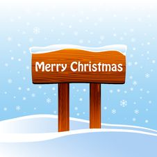 Free Wood Sign With Christmas Message Stock Image - 17540081