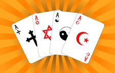 Free Four Religious Aces Royalty Free Stock Photography - 17540317