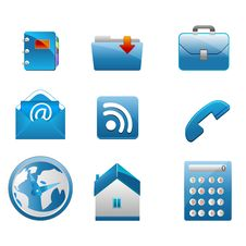 Free Business Icons Royalty Free Stock Image - 17541766