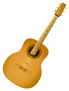 Free Acoustic Guitar Royalty Free Stock Photo - 17542025