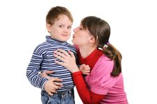 Free Mum Wants To Kiss The Small Son Stock Photo - 17542340