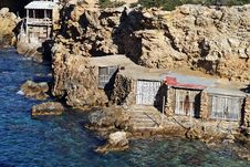 Free Ibiza Typical Piers Stock Images - 17542904