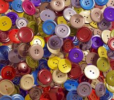 Free Cloth Buttons Background Stock Photography - 17543442