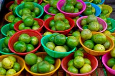 Free Fresh Limes In Market Stock Photography - 17543772