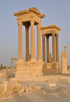 Free Tetrapylon In Ancient City Of Palmyra Stock Photography - 17544452