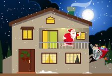 Free Santa & The Burglar Stock Image - 17545021