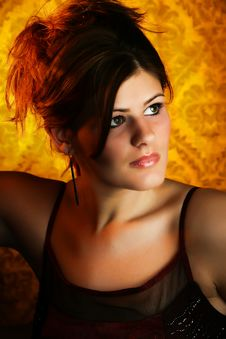 Beautiful Young Woman Headshot Royalty Free Stock Photography