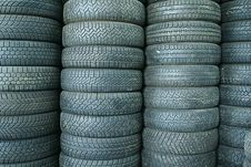 Free Stack Of Tyres Stock Image - 17545171