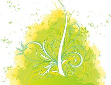 Free Abstract Flower Illustration Flower Spring Green Royalty Free Stock Images - 17545199