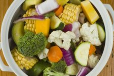 Free Mixed Vegetables In A White Bowl Stock Photos - 17545223