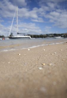 Free Sailboat From Sand Stock Photo - 17545580