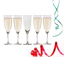 Free Glasses Of Champagne Royalty Free Stock Photos - 17545648