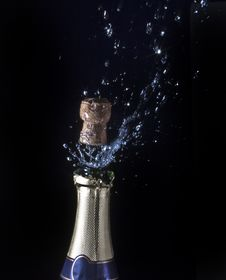 Champagne And Cork Royalty Free Stock Image