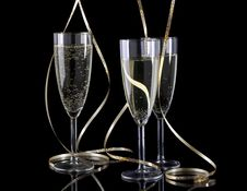 Free Glasses Of Champagne Stock Images - 17545694