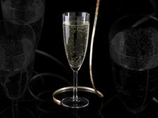 Free Glass Of Champagne Royalty Free Stock Image - 17545696