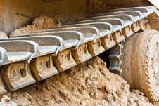 Free Track Bulldozer Royalty Free Stock Photo - 17545785