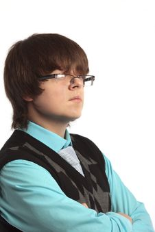 Free Portrait Of The Boy With Glasses Stock Images - 17546444