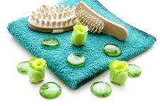Free Massage Brush On Towel Stock Image - 17546611