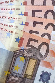 Free Money - 50 Euro Banknotes Stock Image - 17547031