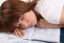 The Student Sleeps Stock Image