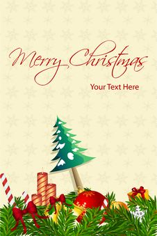 Free Happy Christmas Card Royalty Free Stock Images - 17548609