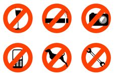Free Not Allowed Icons Stock Photo - 17548620