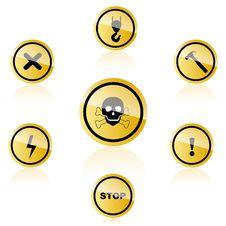 Free Warning Icons Stock Images - 17548624