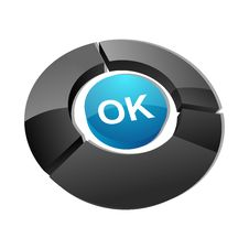 Free Ok Button Royalty Free Stock Photos - 17548628