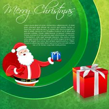 Free Santa In Merry Christmas Card Royalty Free Stock Image - 17548666