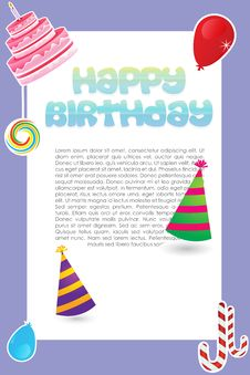 Free Sweet  Birthday Card Royalty Free Stock Photography - 17548877