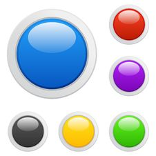 Free Multicolored Buttons Royalty Free Stock Images - 17548879