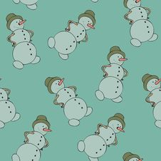 Free Snowman Seamless Royalty Free Stock Image - 17549456