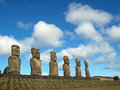 Free Moai On Easter Island Royalty Free Stock Images - 17555649