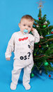 Free Boy Near The Christmas Tree Stock Photos - 17556923