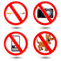Free Warning Icons Royalty Free Stock Photos - 17558418