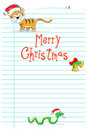 Free Merry Christmas Card With Wild Animals Stock Photography - 17558502