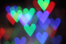 Blurred Valentine Background With Heart