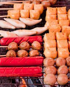 Hot Dog Variety. Stock Photo