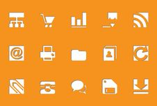 Free Internet Icons | Die Cut Series Stock Images - 17550394
