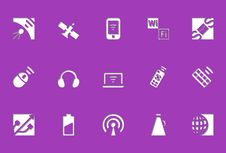 Free Wireless Icons | Die Cut Series Royalty Free Stock Image - 17550396