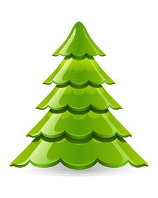 Free Merry Christmas Tree Royalty Free Stock Photography - 17550697