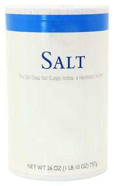 Bottle Of Salt Blank Label Add Text Stock Photos