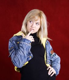 Free Young Blond Teenage Girl Stock Photos - 17551123